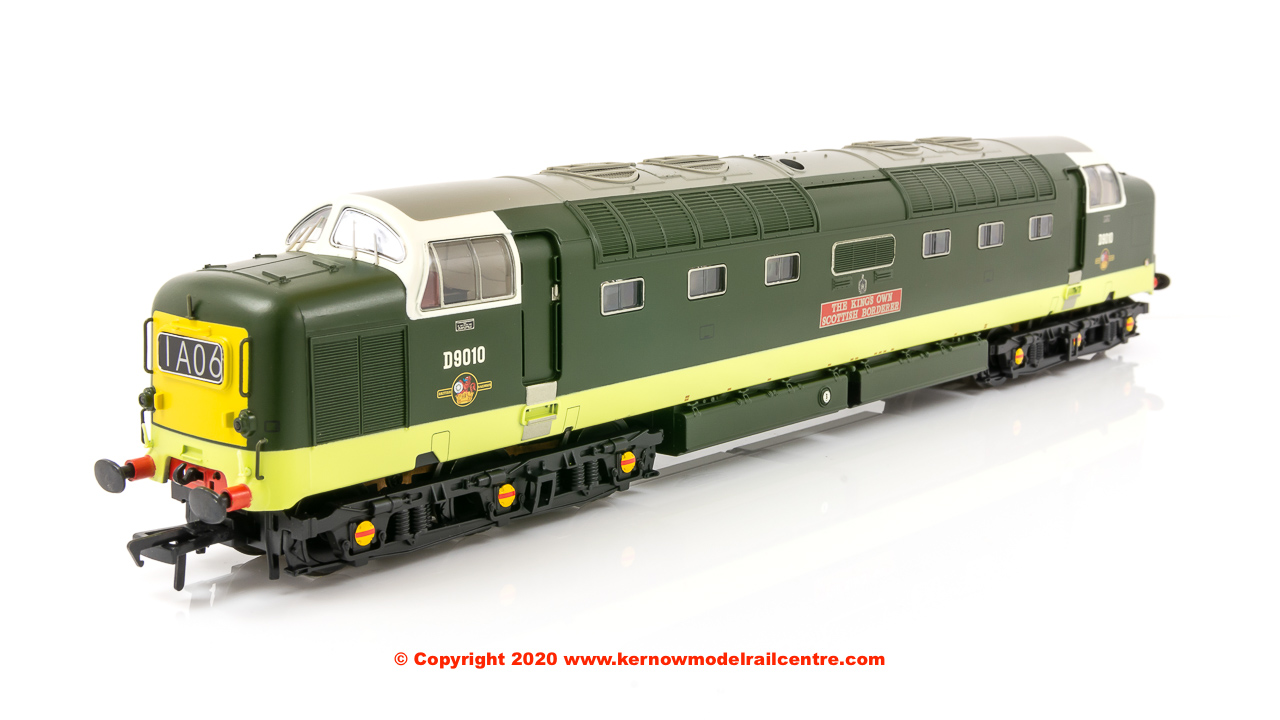 32-529C Bachmann Class 55 Deltic Diesel number D9010 'The King's Own Scottish Borderer' in BR Two-Tone Green livery with small yellow panels